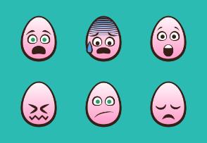 Egg Head Emojis | Pink