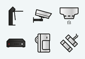 ELASTO Fire alarm and security systems Color Flat & Outline icons