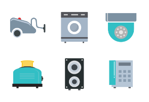 Electronics Appliances Flat Color
