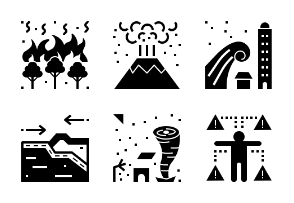 Emergency And Disaster Management Glyph