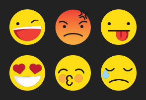 Emoji color icons collection