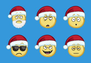 Emojis With Santa Hats