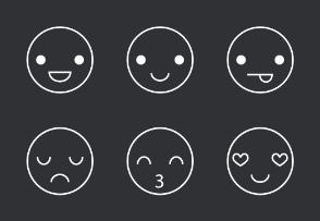 Emoticon Thinline Icons Set