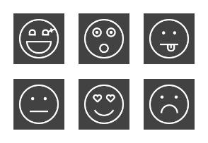 Emoticons Line Inverted