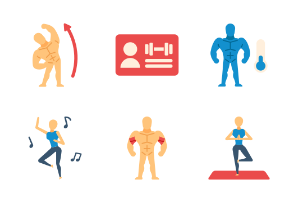 Exercise and Gym Flat - The body building