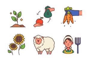 Farming filled outline