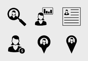 Female User Icons - 1