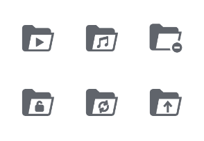File and Folder Fill icons set