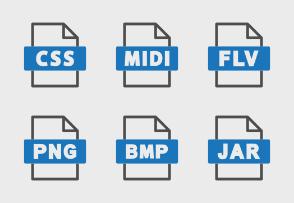 File formats blue 7