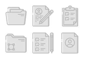 Files and Folders 2 - Greyscale