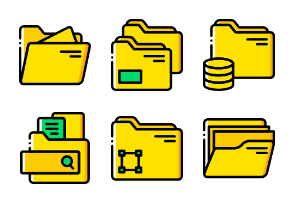 Files and Folders 2 - Yellow