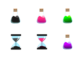 Flasks and Hourglass