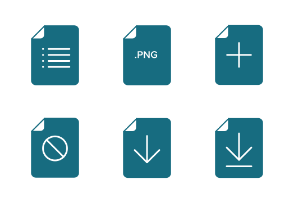 Flat Field Mono - File and Document icon set