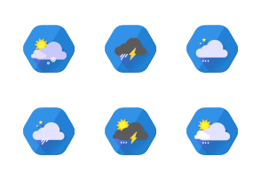 Flat/Material Weather Icon Set