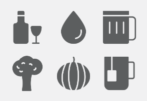 Food and Drink Glyphs vol 5