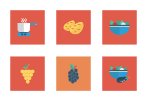 Food and Drinks Flat Square vol 3
