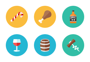 Food Icons - Rounded