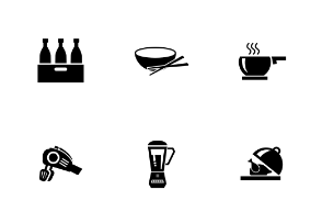 Food Solid Icons Volume 4