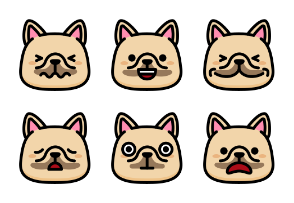 Frenchie Emoticons