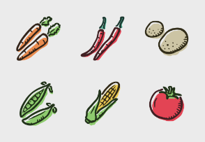 Fruit and vegetable colored
