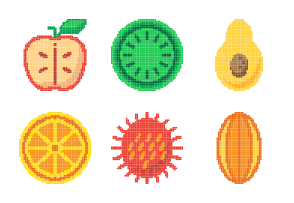 Fruit Pixel Color