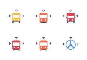 Future of transportation #2 - Flat colored