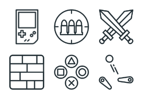 Gaming - Stroke Icons