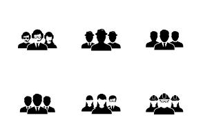 Glyph User group icon set 1 - Ibrandify