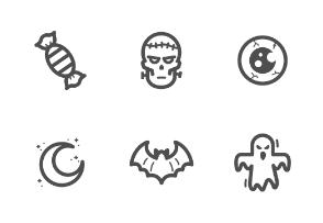 Halloween bold line