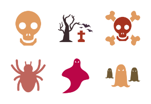 Halloween flat icons pack