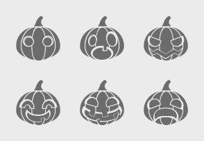 Halloween pumpkins (glyph)