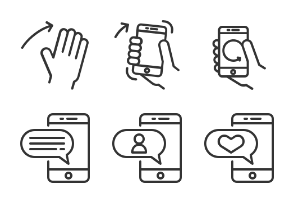 Hand Gesture Icons set 4