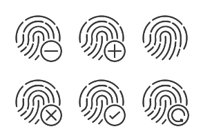 Hand Gesture Icons set 9