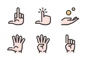 Hand Gestures Color 1