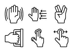 Hands And Gestures - Outline