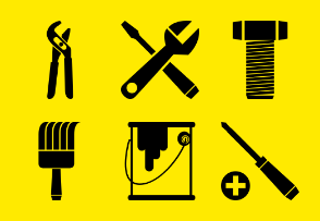 Hardware and painting tools