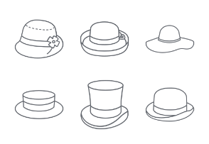 Hats Outlines