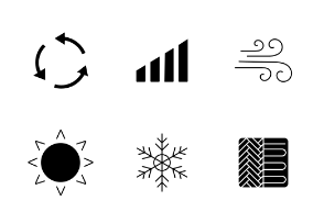 Heating. Glyph. Silhouettes