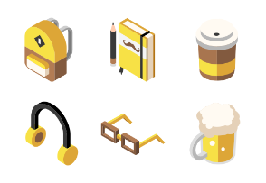 Hipster elements Isometric - Histerism