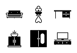 Home Furniture Appliance - Glyph