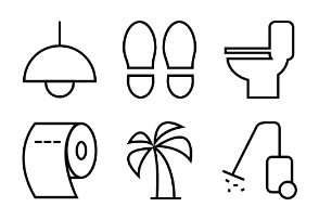 Hotel and Restaurant Line Icons Vol 2