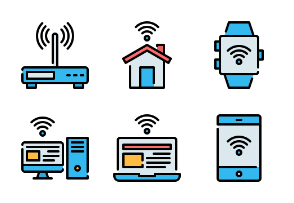 Internet Of Things - Filled Outline