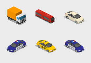 Isometric City Basic - Transport