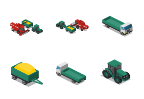 Isometric Farm - Vehicles