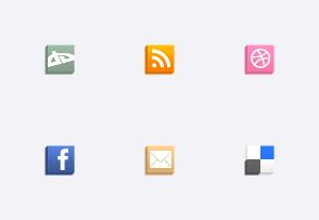 Isometric Social Media Icons