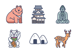 Japan Filled outline