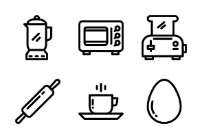 Kitchen and Food ( line )