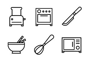 Kitchen utensil (outline)