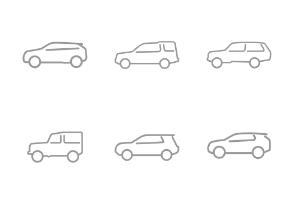 Land Rover Line Icons