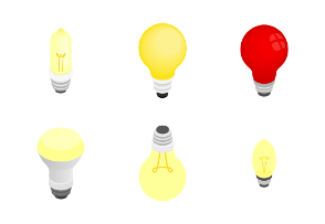 Light bulbs - isometric